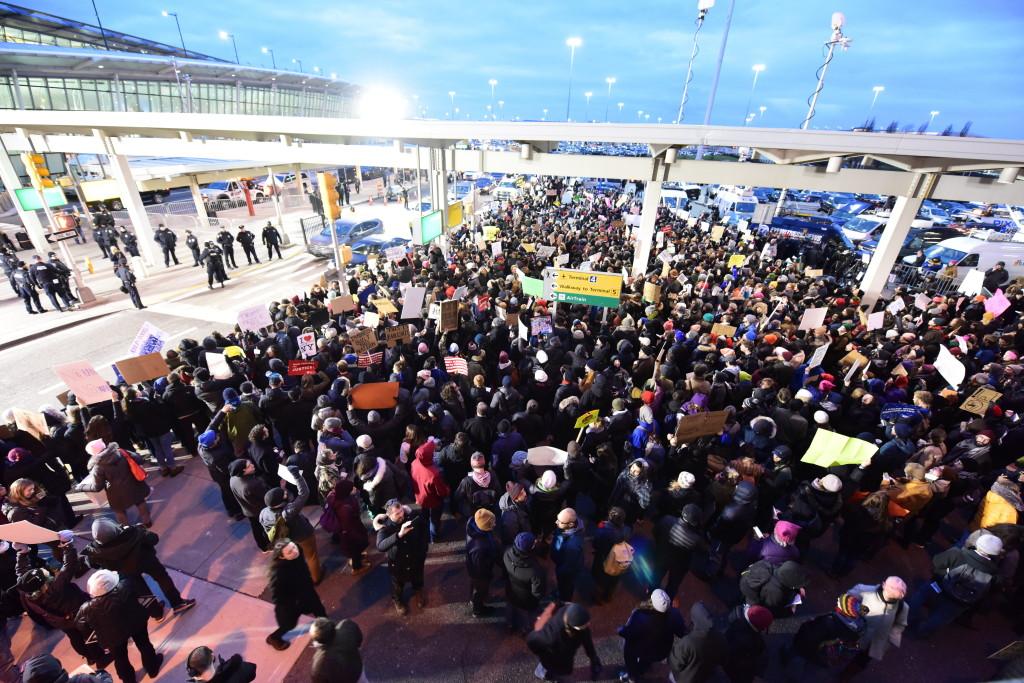 Protests at JFK Airport, January 27th